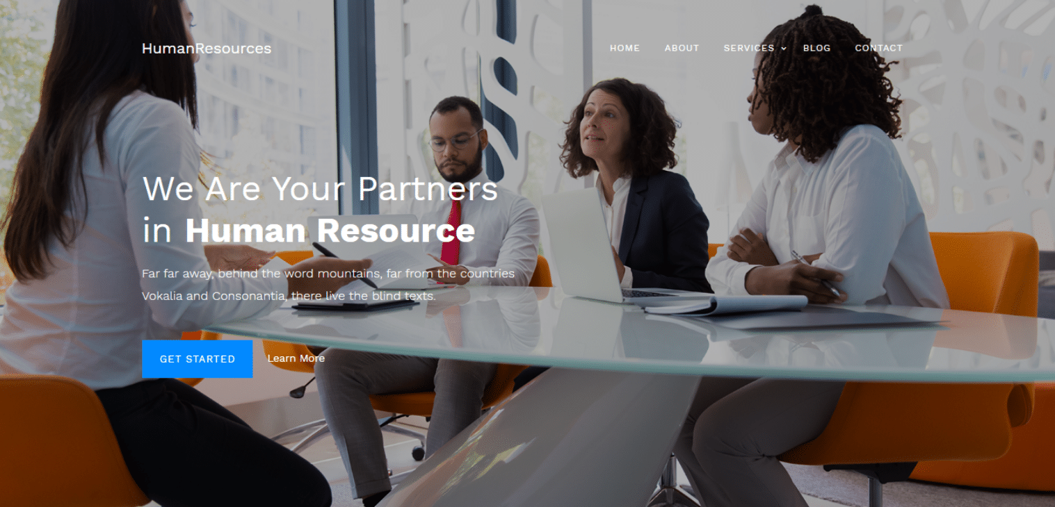 humanresources-free-business-website-template