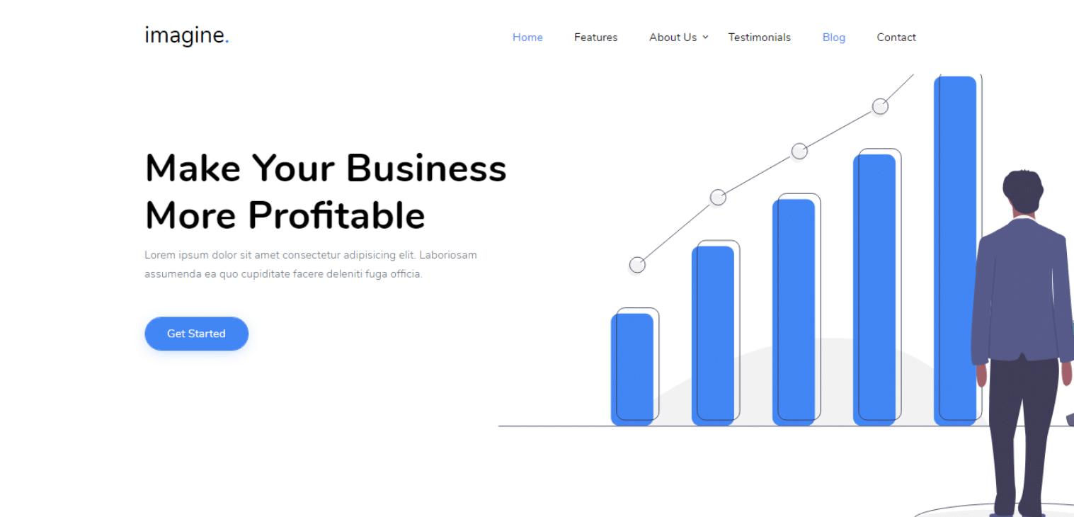 imagine-startup-website-template