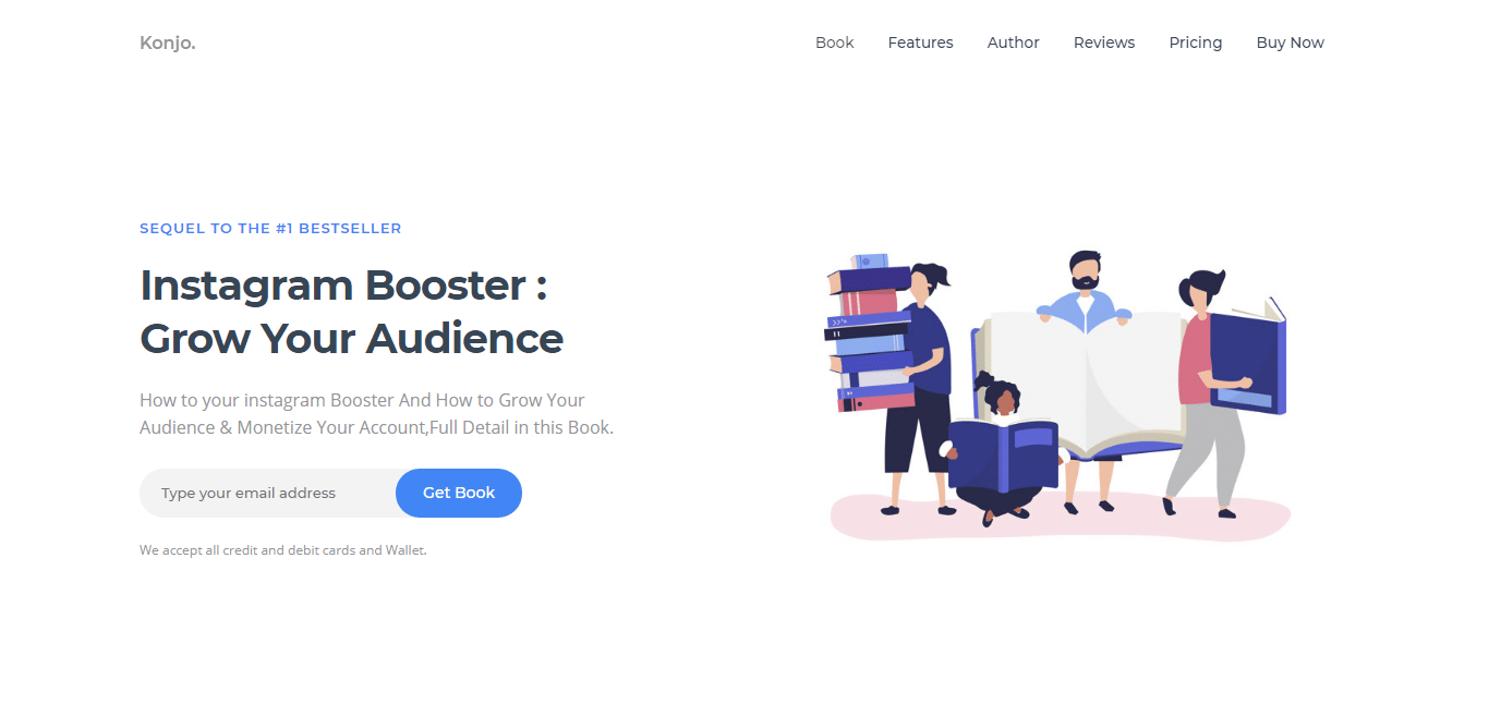 konjo-author-website-template