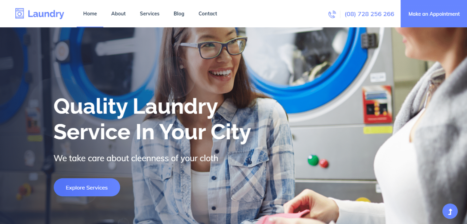 laundry-free-business-website-template