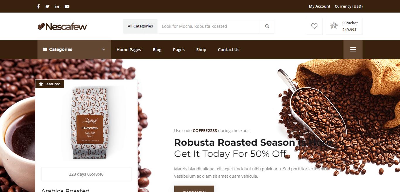 nescafew-coffeeshop-website-template