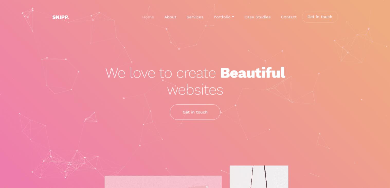 snipp-startup-website-template