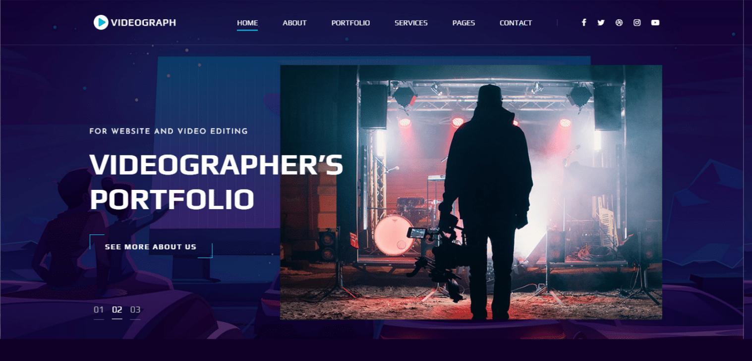 videograph-video-backgrund-website-template