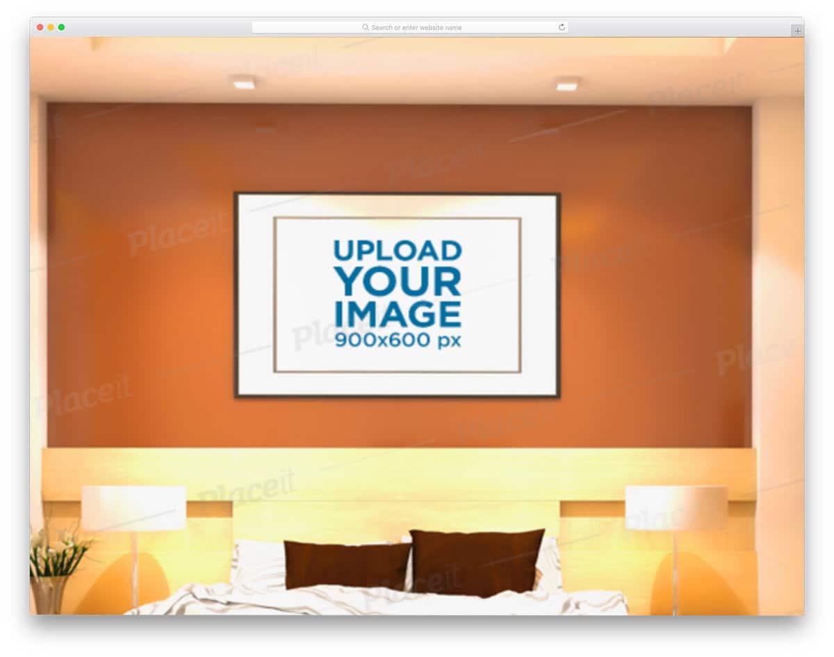 poster mockup for art design presentation