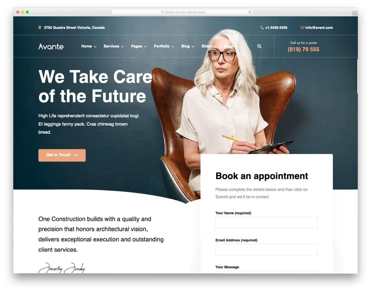 multipurpose service website template