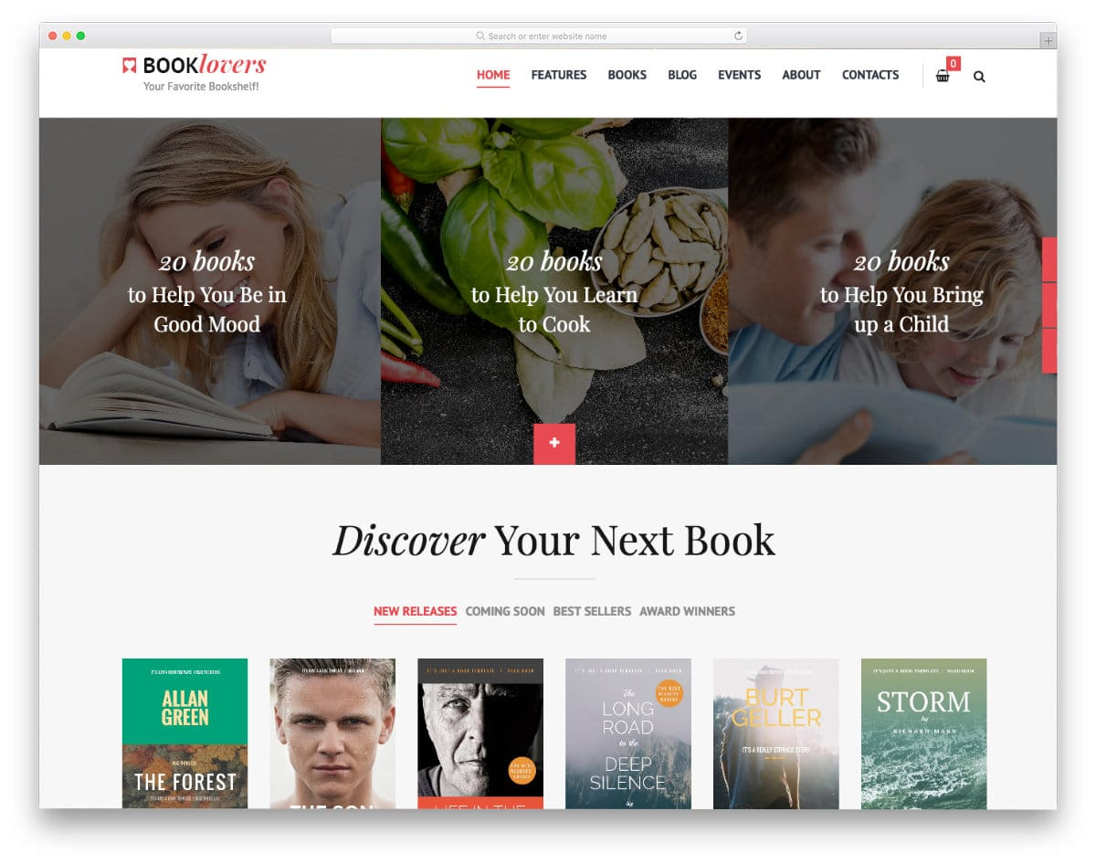 properly organized books website templates