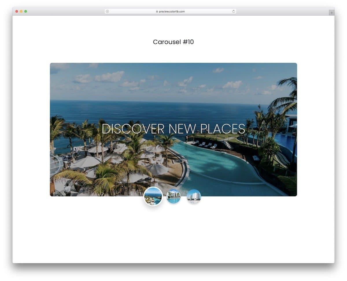 elegant bootstrap slider for images