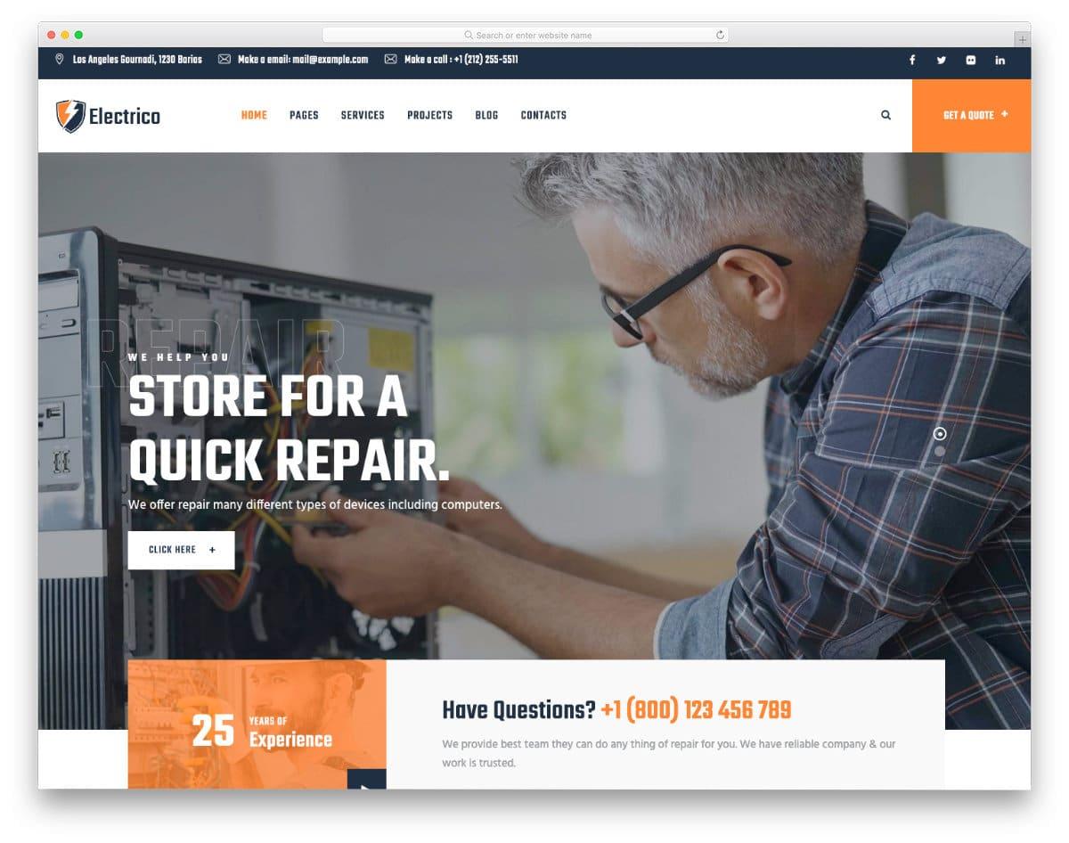 multipurpose repair and computer repair web template