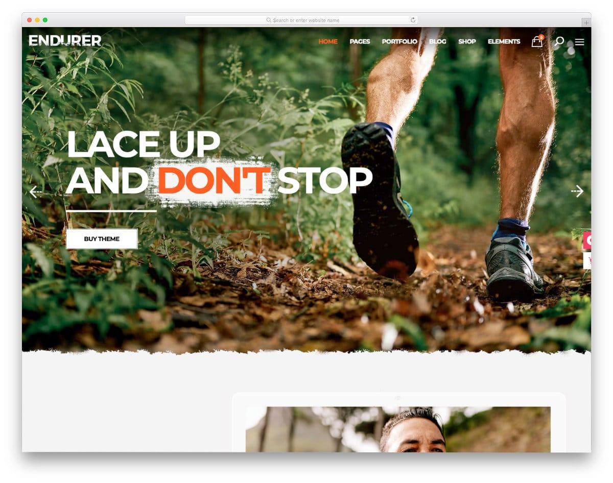 running sports website template