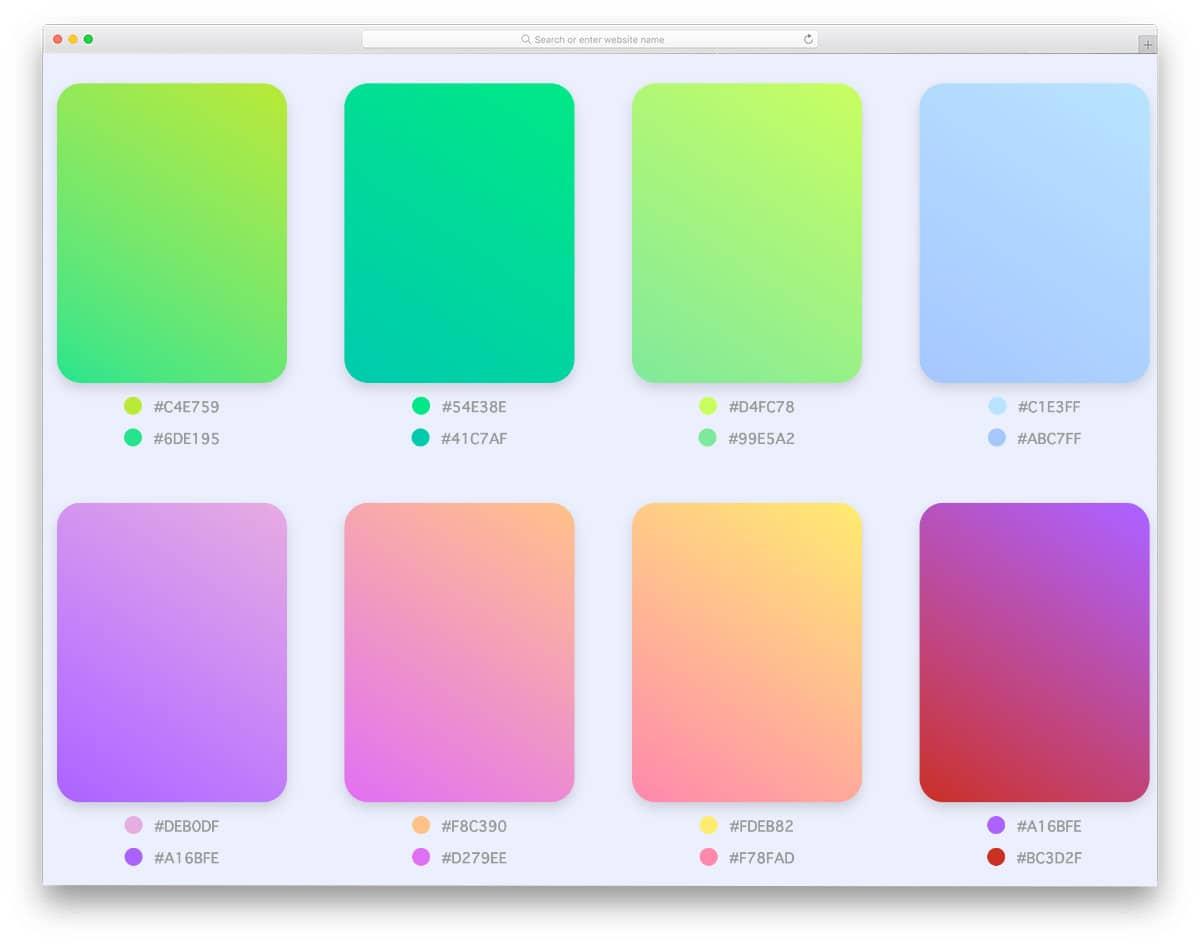 neat gradient color palette example