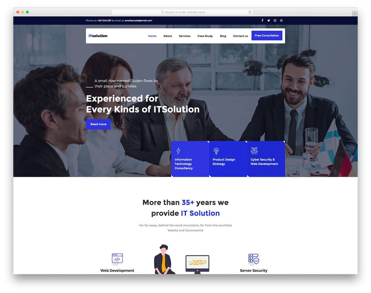 computer repair and IT solution web template
