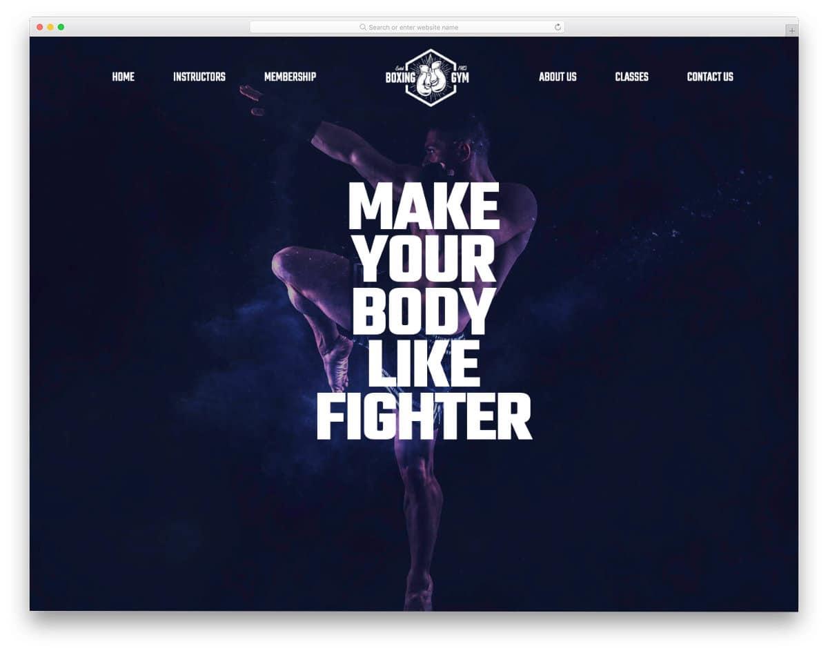 easy-to-edit martial arts website templates