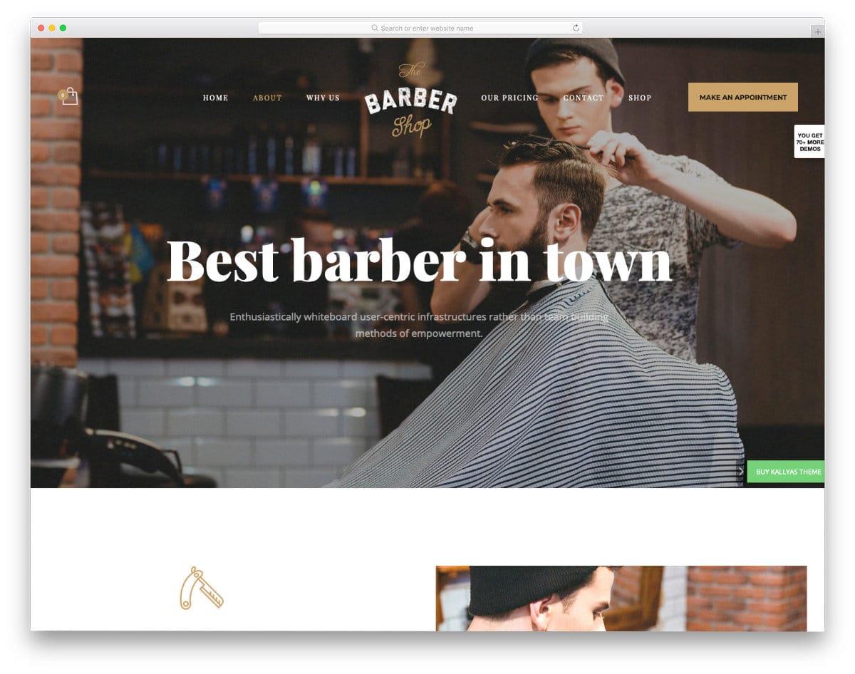 interactive hair salon websites templates