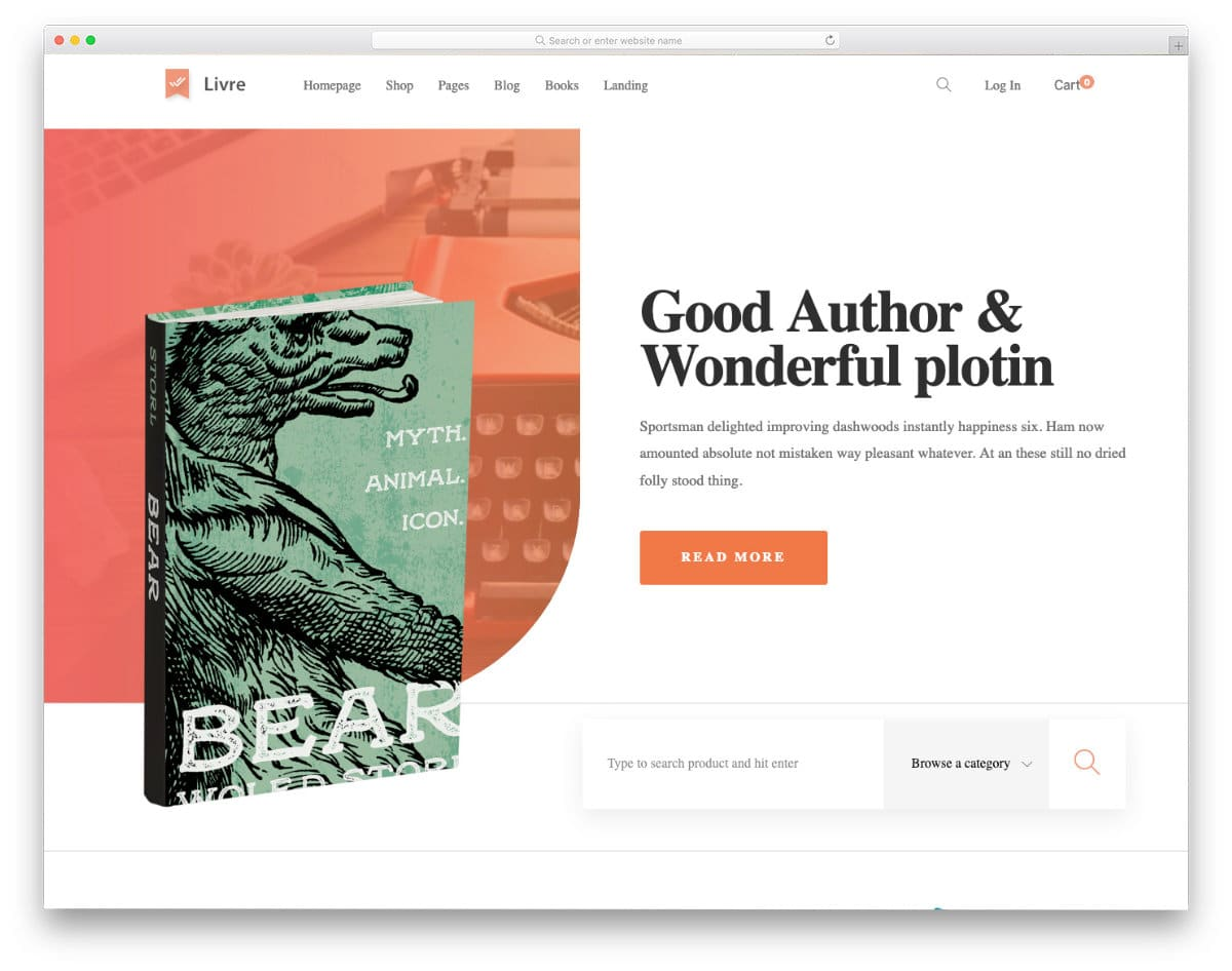 feature-rich books website templates