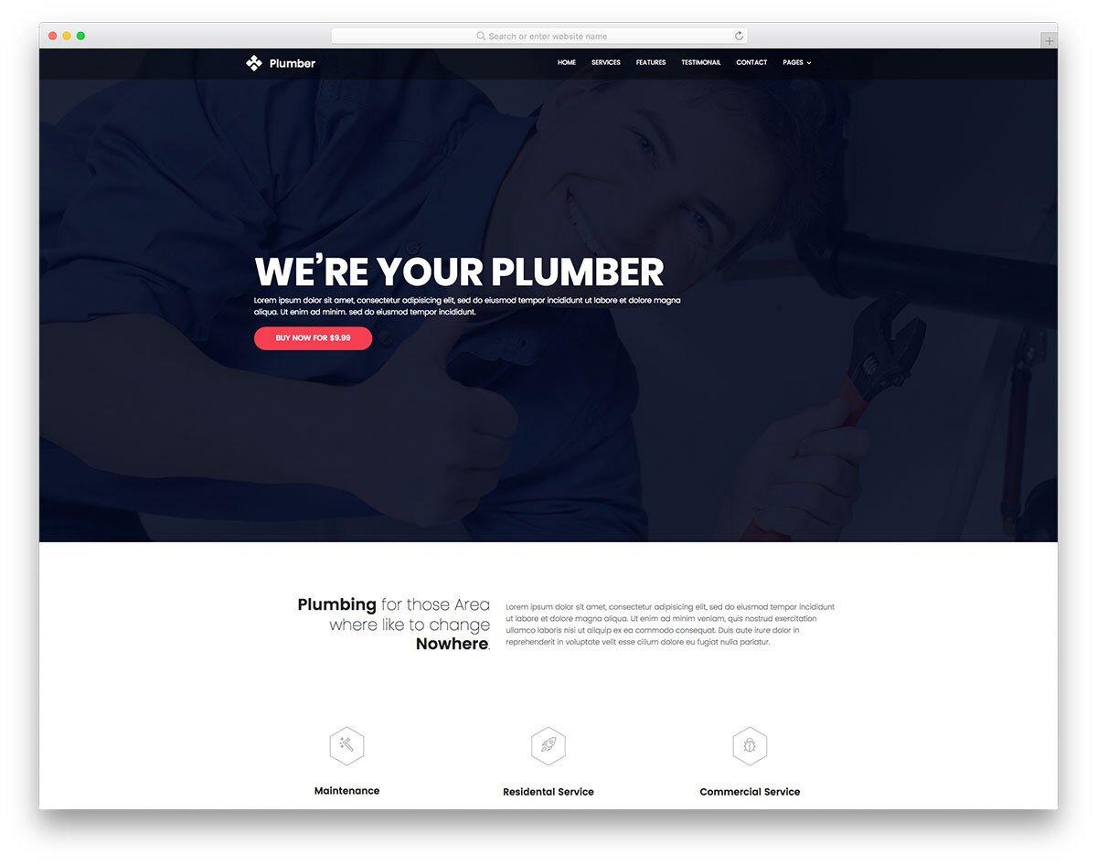 plumbing website template