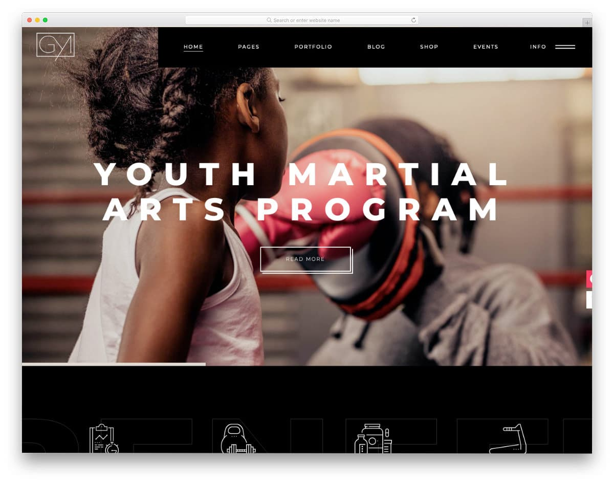 modern martial arts website templates