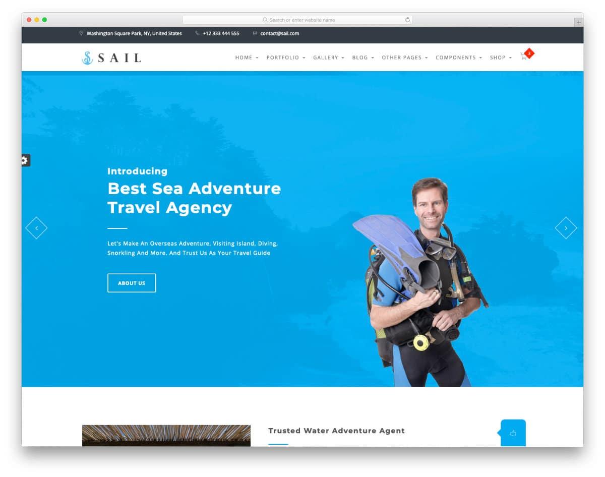 scuba diving HTML template
