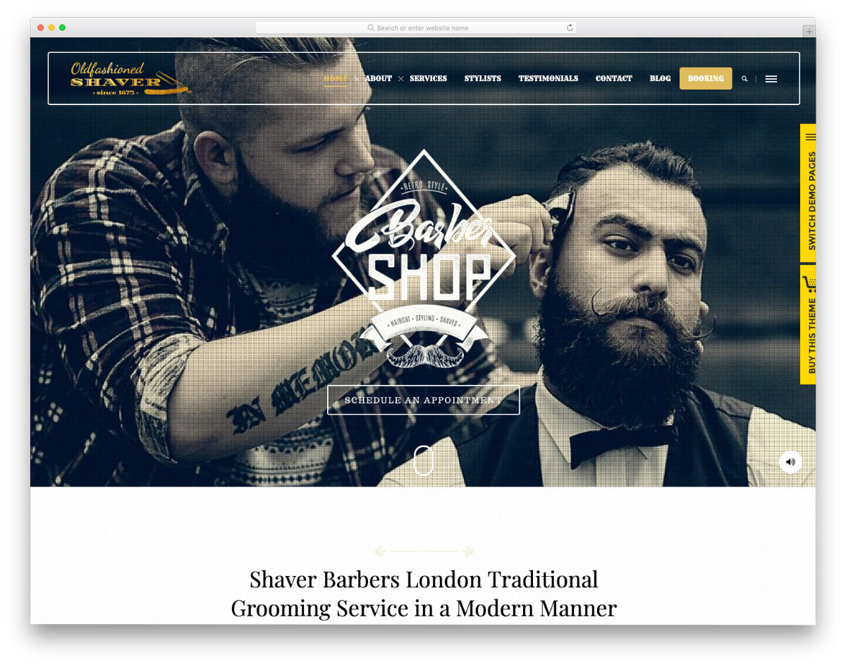 website template for barbers
