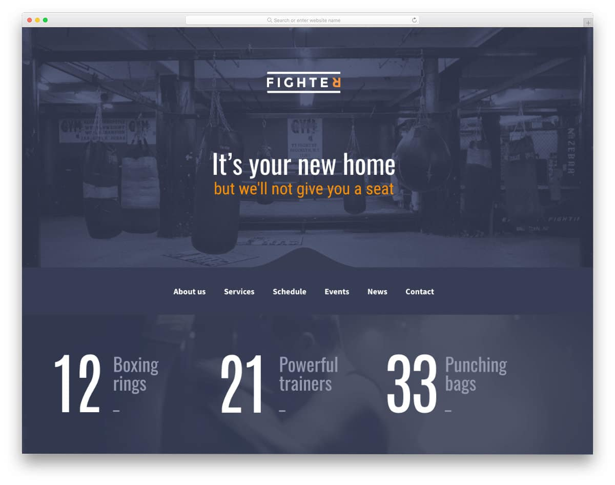 multipurpose fitness and health website template