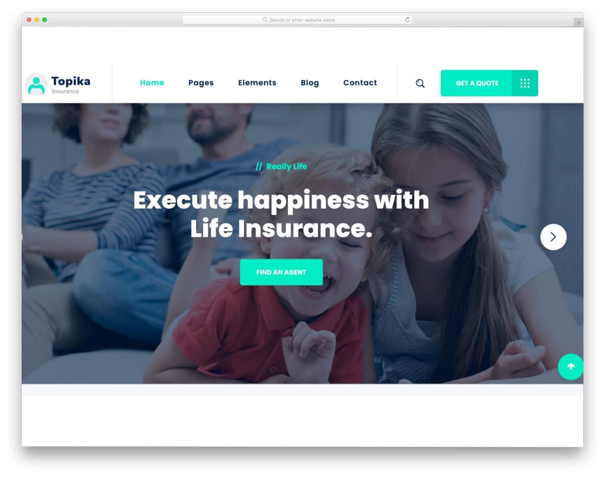 modern insurance website template