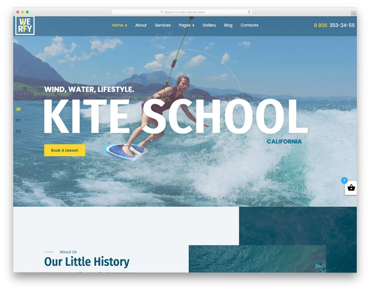 modern watersports website template