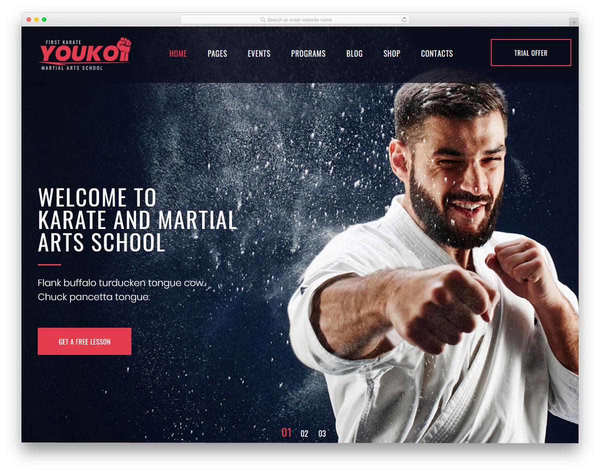 martials arts karate website template