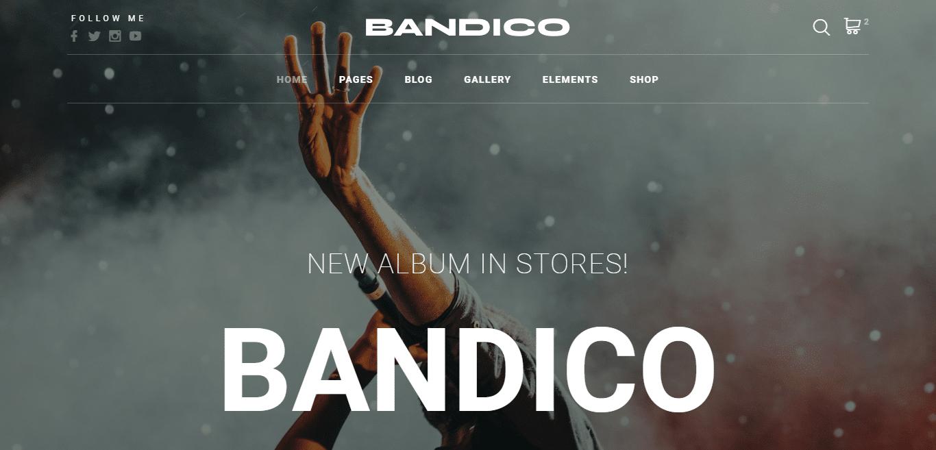 bandico-music-website-template