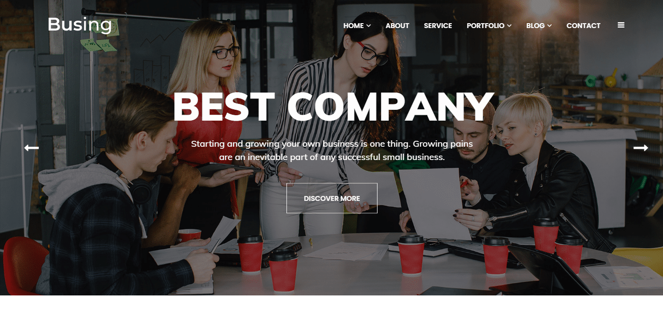 busing-consulting-website-template