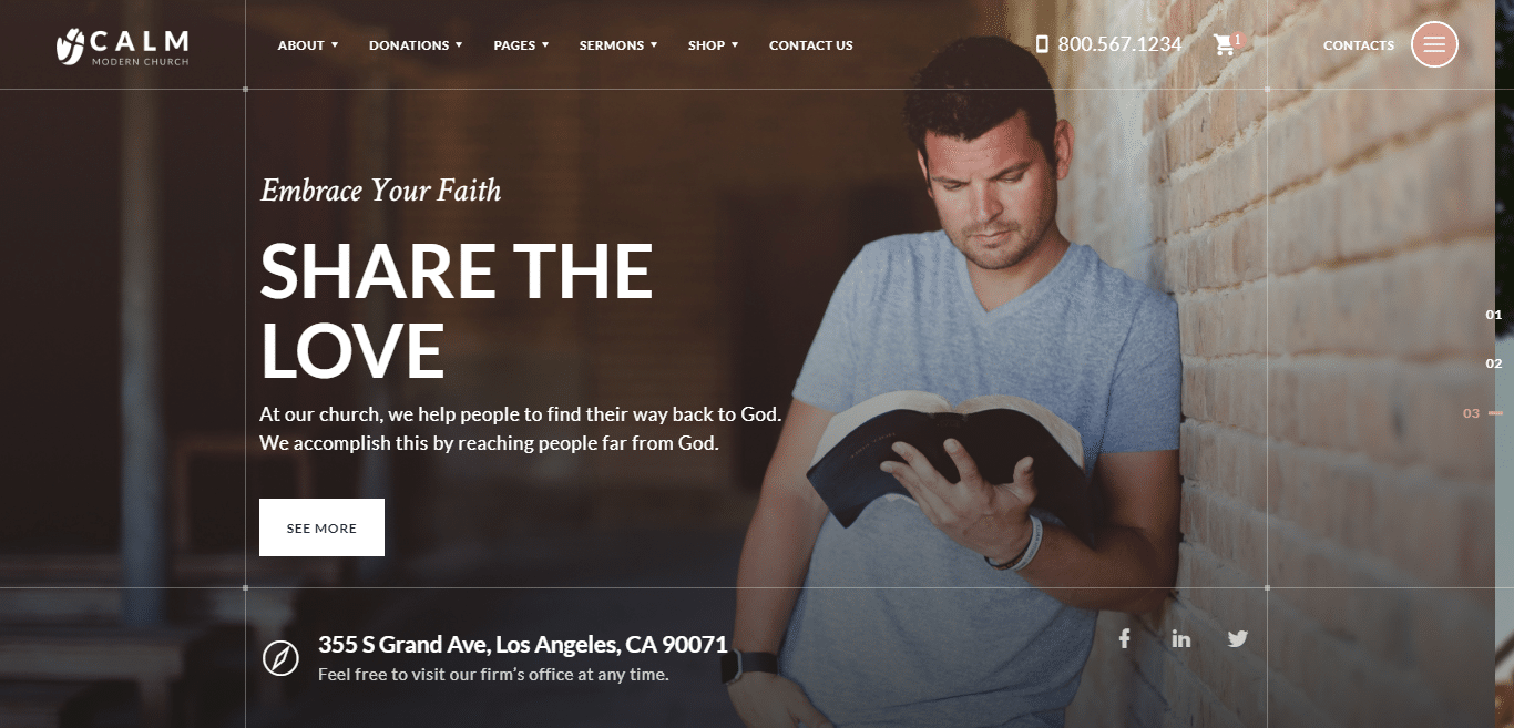 calm-church-website-template