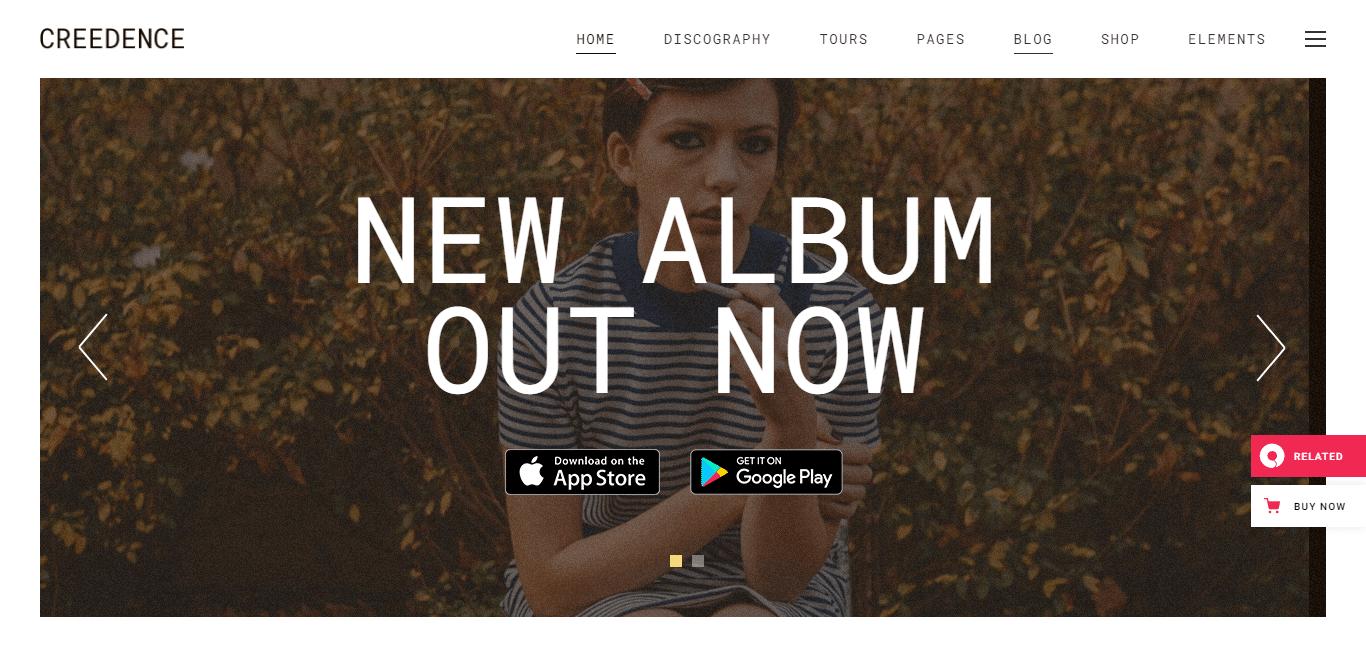 creedence-music-studio-website-template