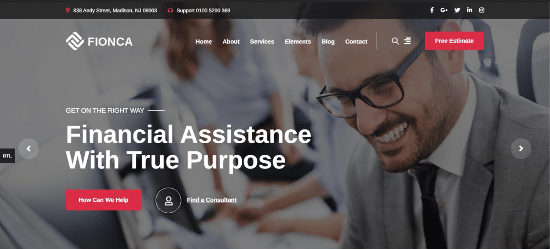 fionca-financial-website-template