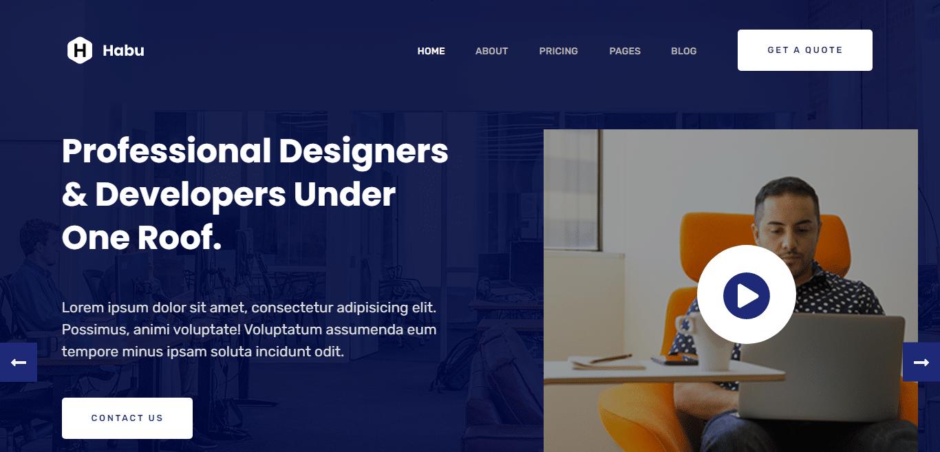 habu-graphics-designer-website-template