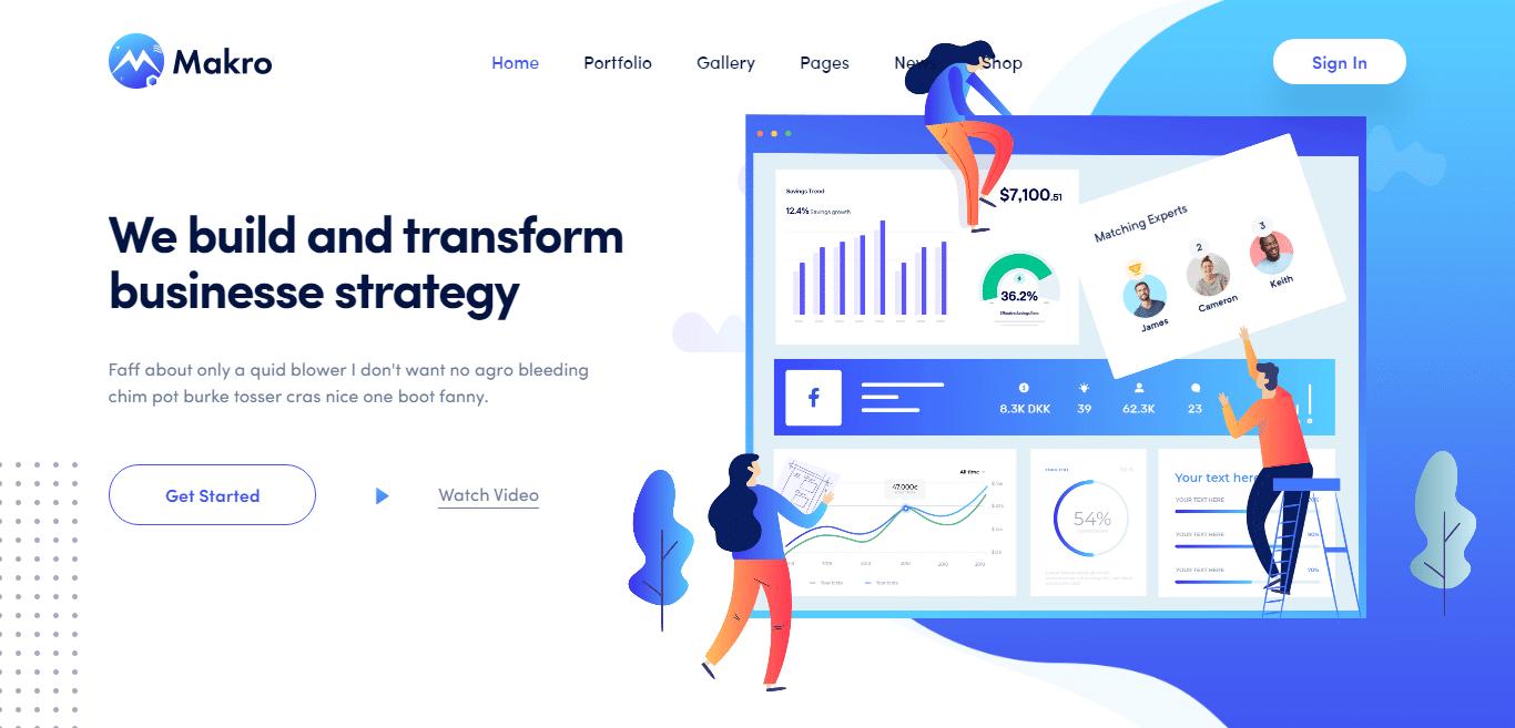makro-software-landing-page-website