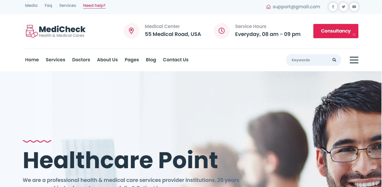 medicheck-medical-website-template