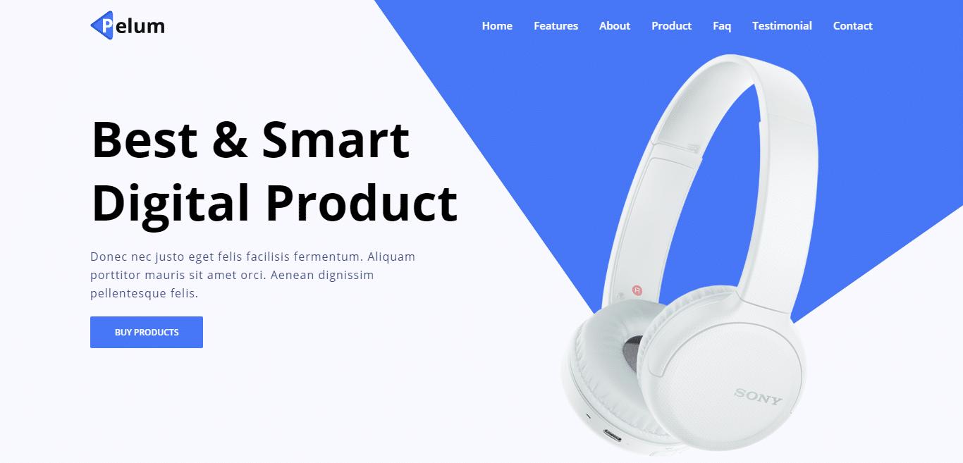 pelum-product-landing-page-website-template