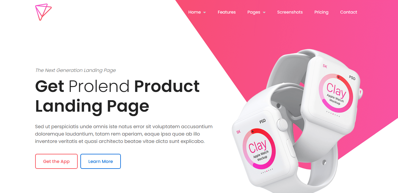 prolend-product-landing-page-website-template