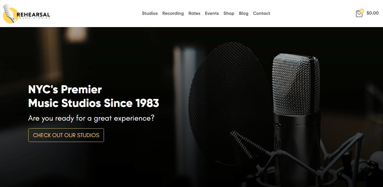 rehearsal-music-studio-website-template