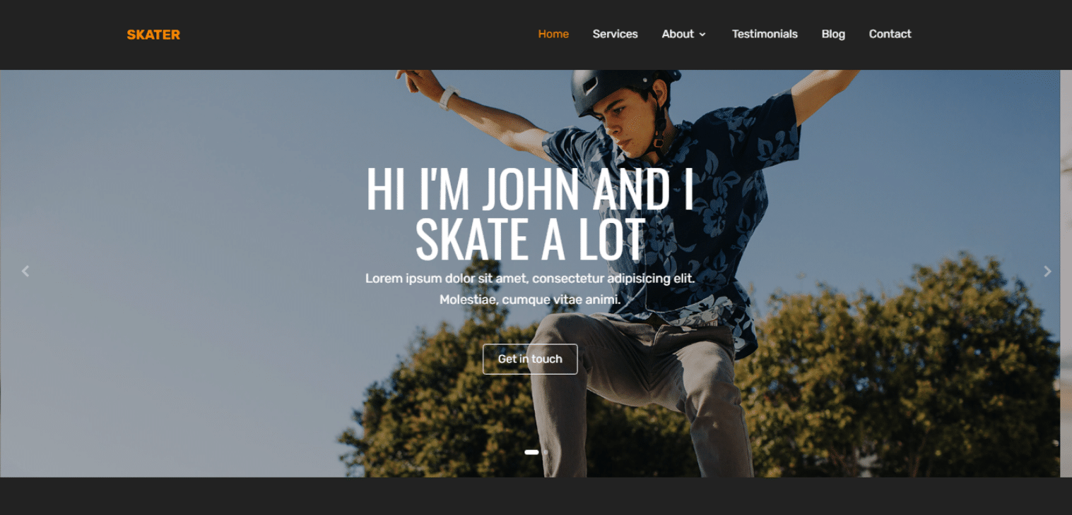 skater-free-single-page-website-template