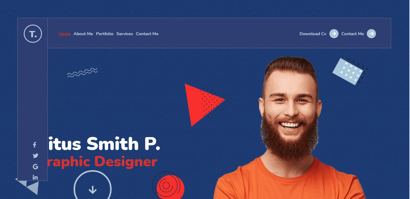 titum-resume-website-template