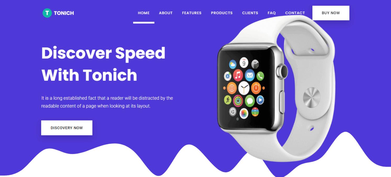 tonich-software-landing-page-website