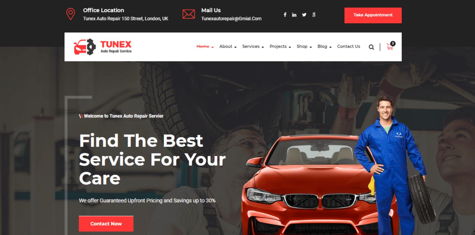 tunex-automotive-website-template