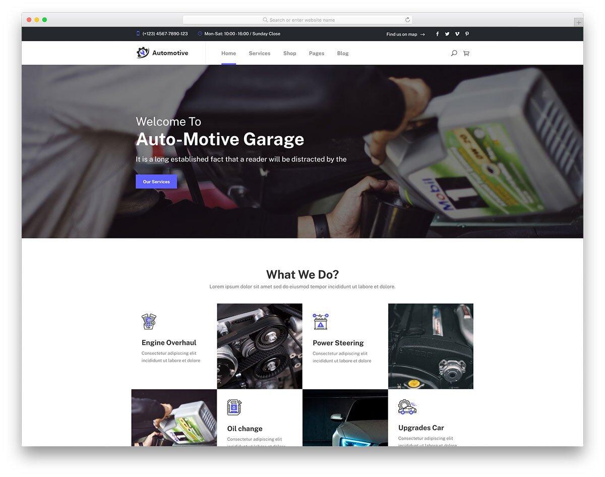 auto spare parts website template