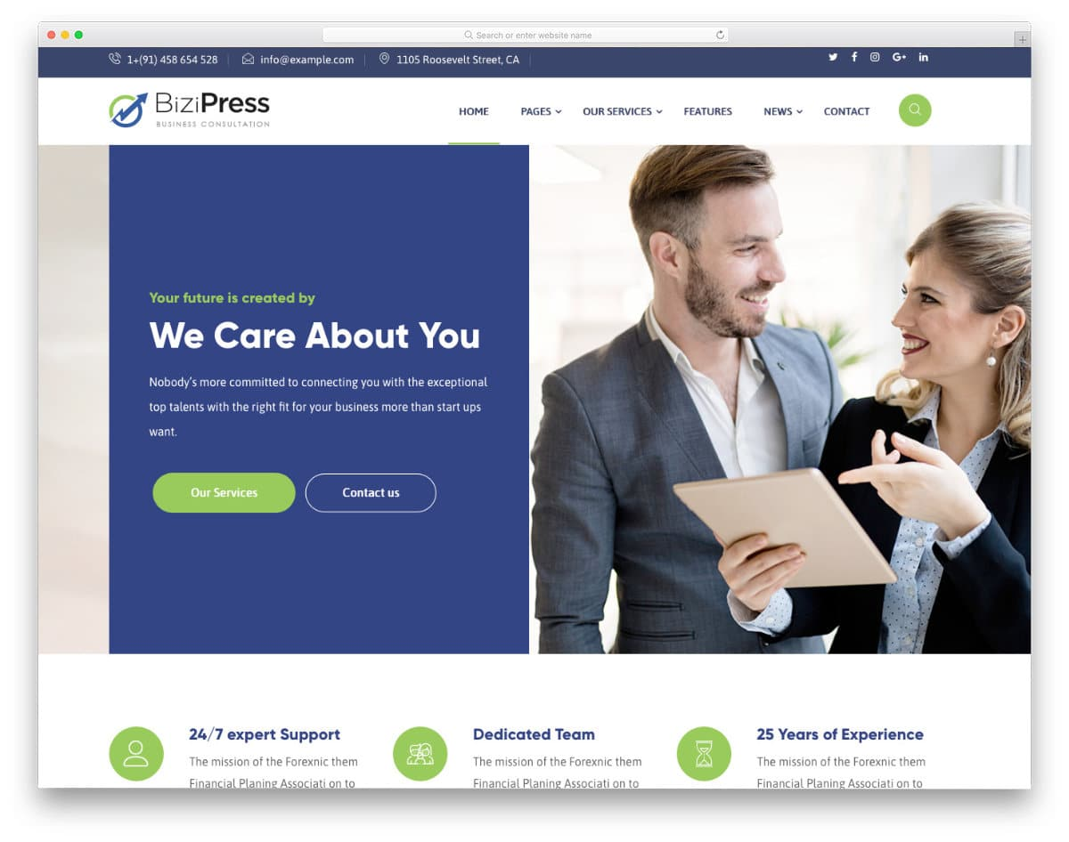 multipurpose finance and insurance website template