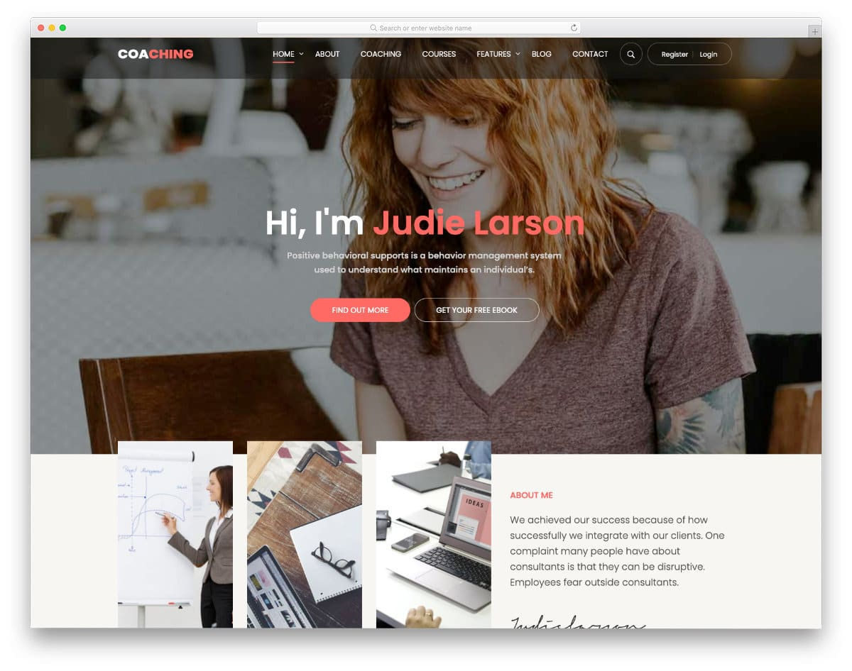 online course wordpress theme for fitness and education websites