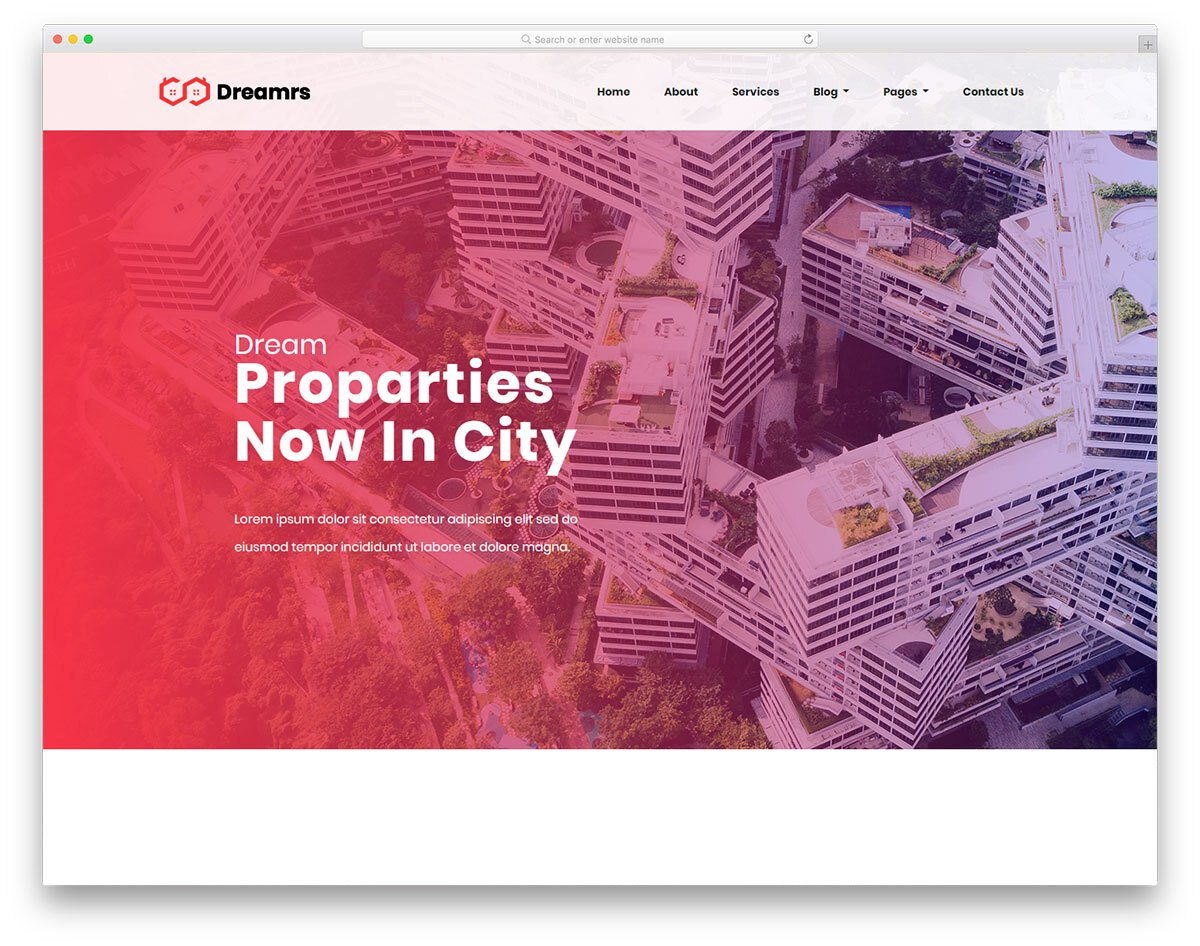 real estate investor and management website template