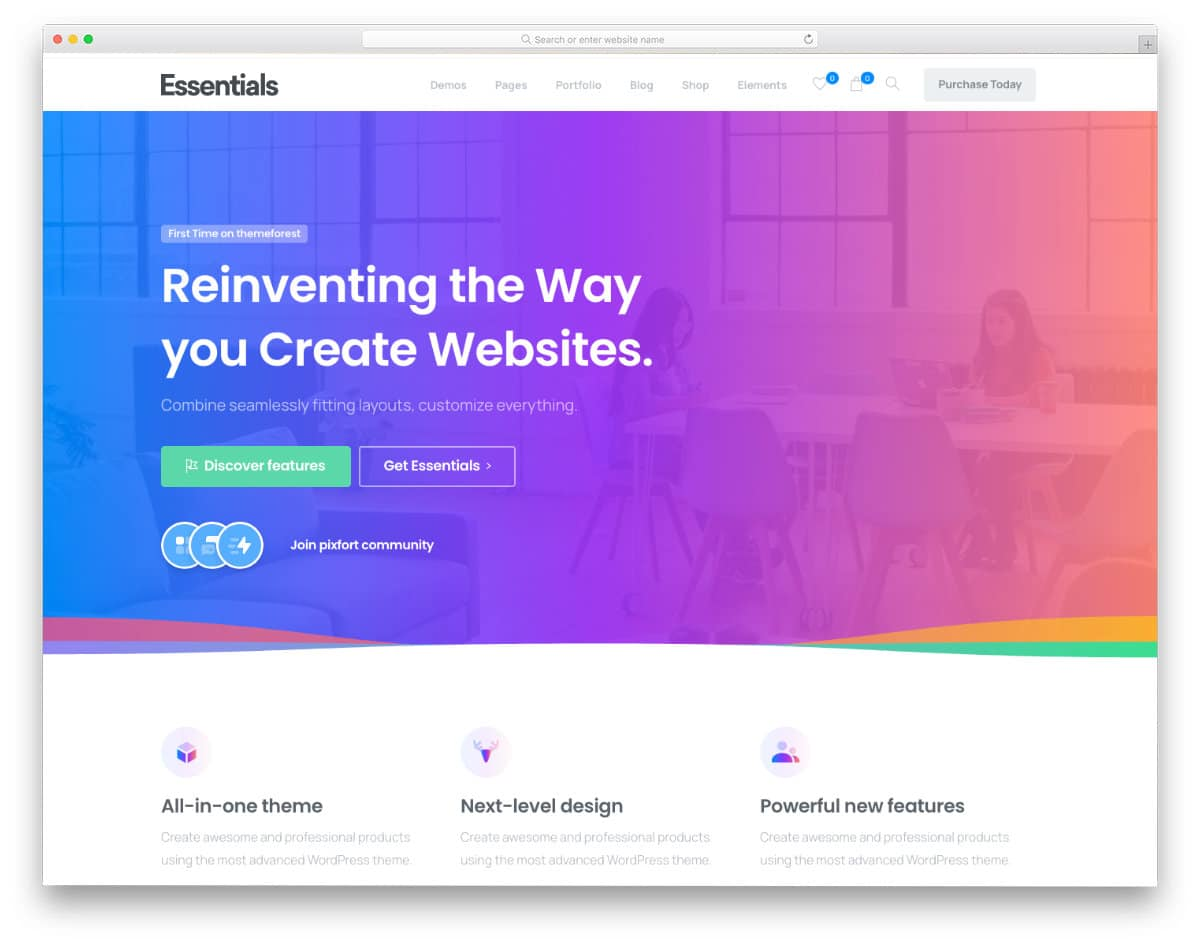 dynamic website template for all major website categories