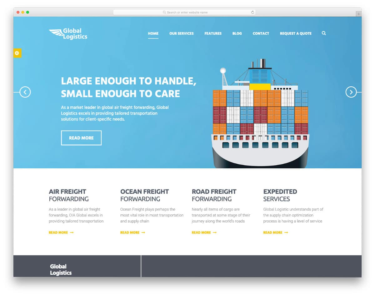 simple and contemporary style HTML transportation websites templates