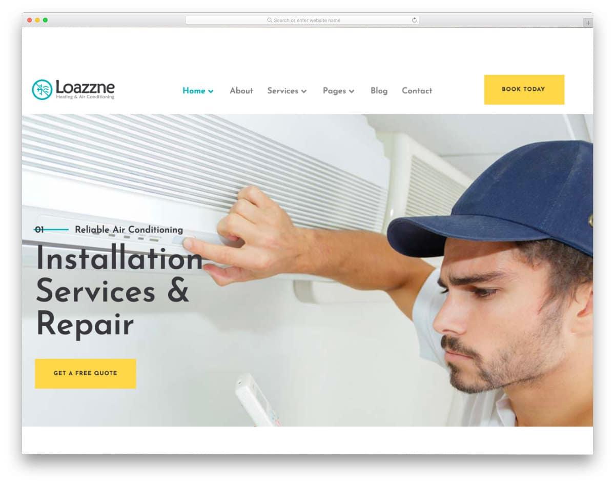 simple HVAC website template