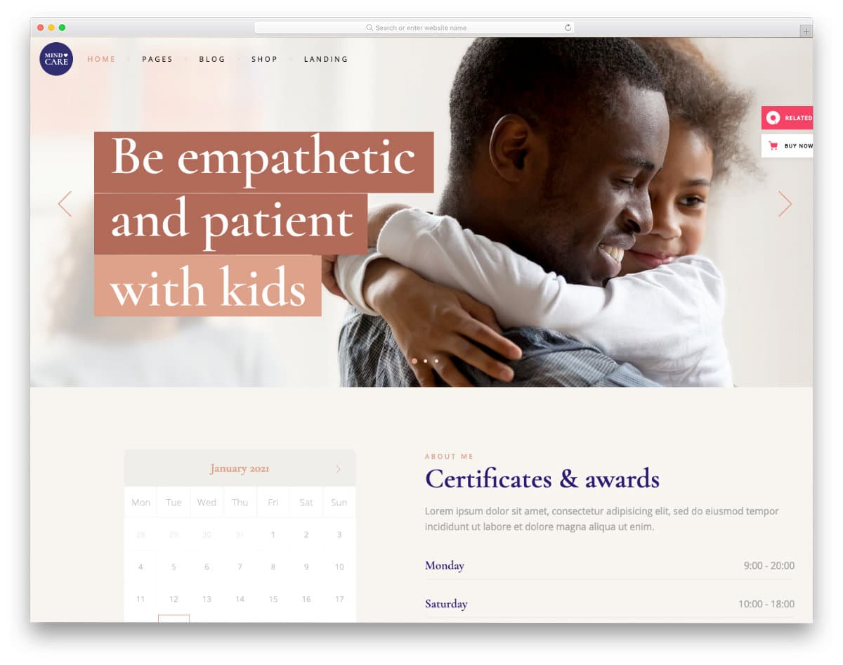 WordPress appointment scheduling template for doctors