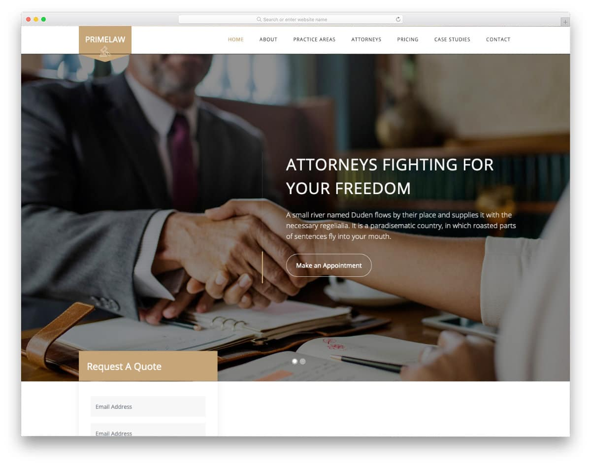 law firm and notary website template
